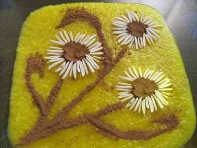 2 تصاویر تهیه تزئین شله زرد